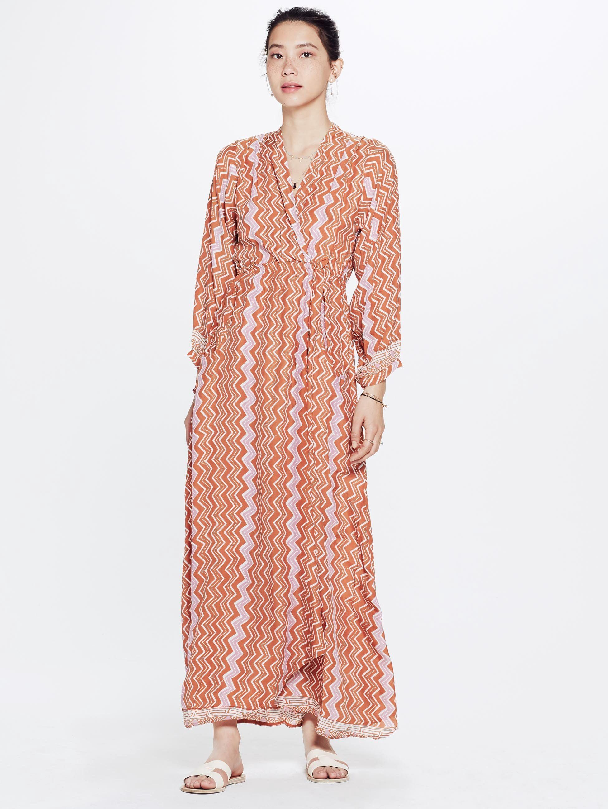 Natalie martin nico long sleeve maxi dress new rust by mother