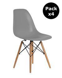 Pack 4 Stuhl Dimero Dark Grey Stühle Chair Love Chair Und