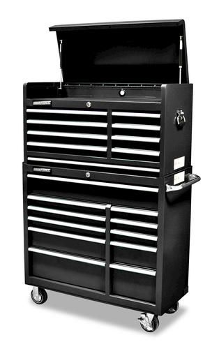 "masterforce® 41"" tool chest and cabinet combo 
