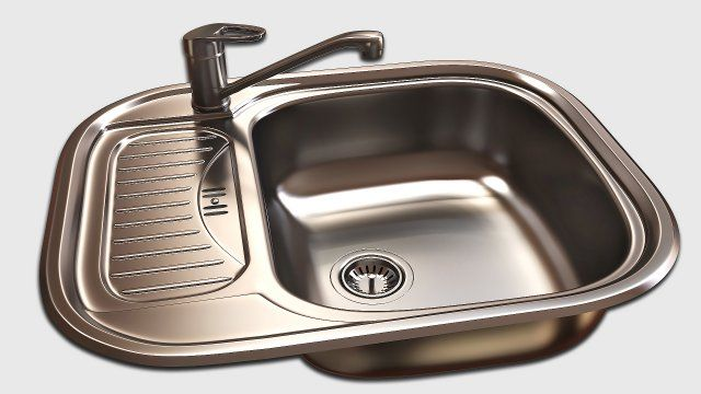 Kitchen Sink 3D Model .max .c4d .obj .3ds .fbx .lwo .stl @3DExport ...
