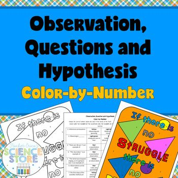 Observations Questions And Hypothesis Color By Number Pinterest