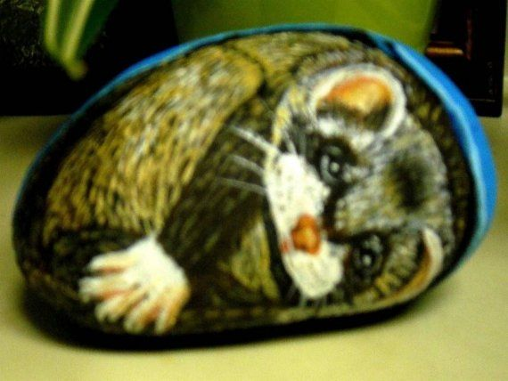 Ferret in a Blanket by byway on Etsy, $35.00