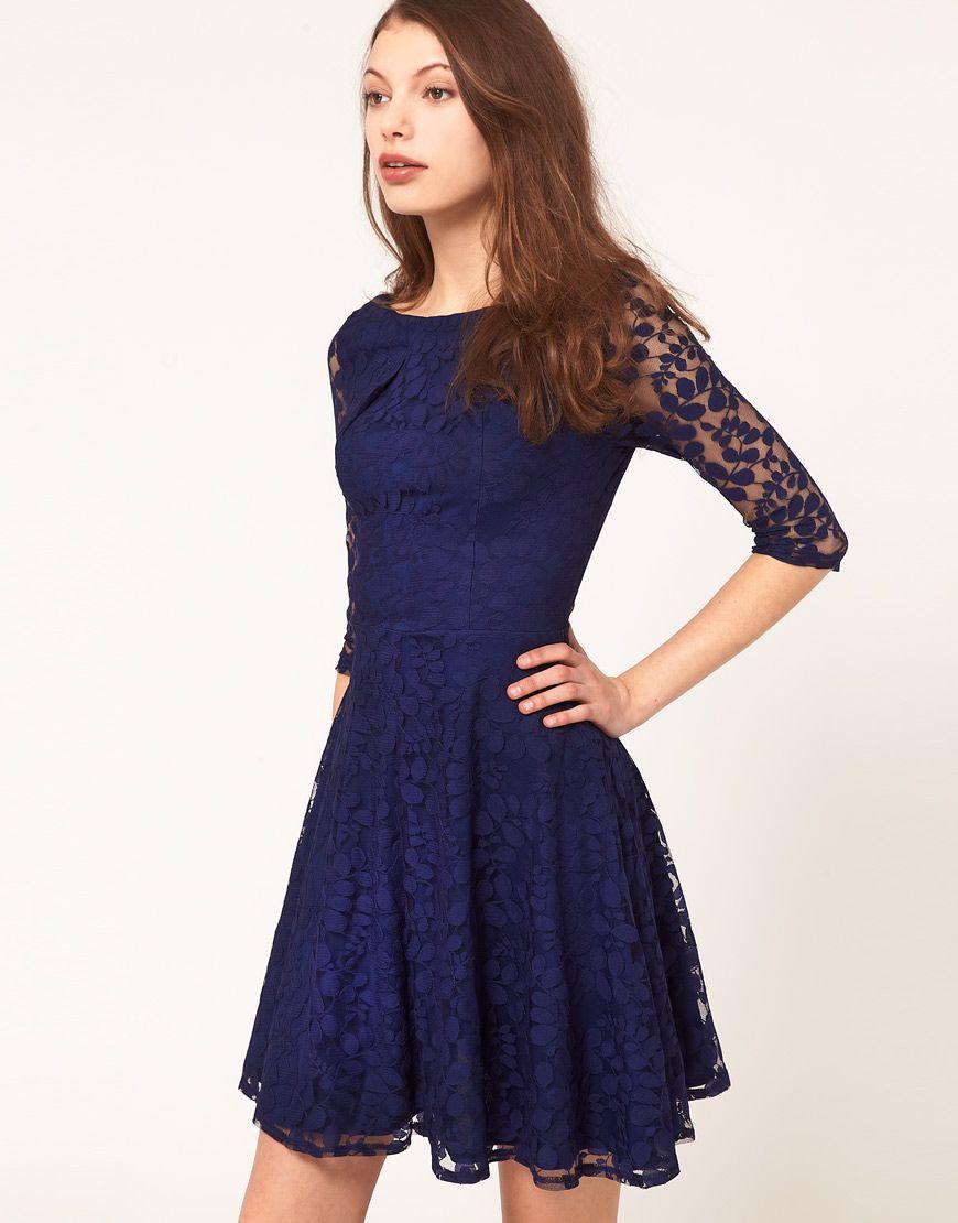 Asos lace mini dress with skater skirt sgd lace midi dress