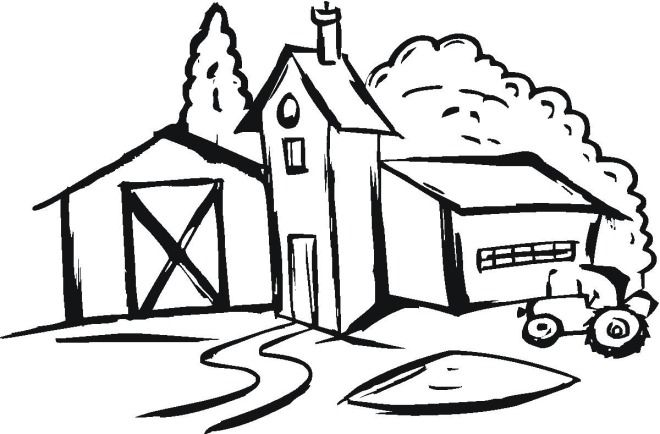 farm house coloring pages - photo#7