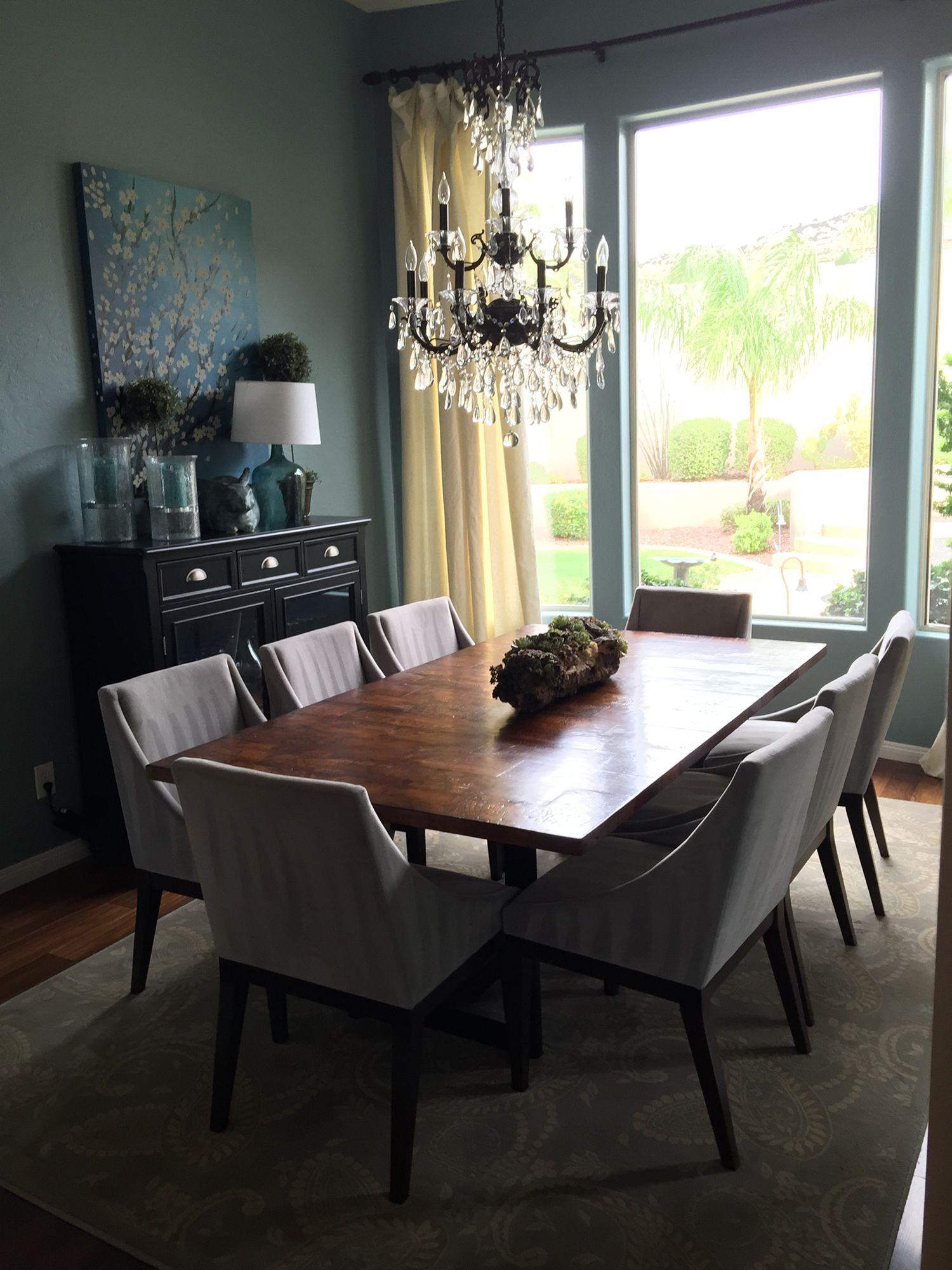blue u0026 gray dining room bm sea star paint arizona abode