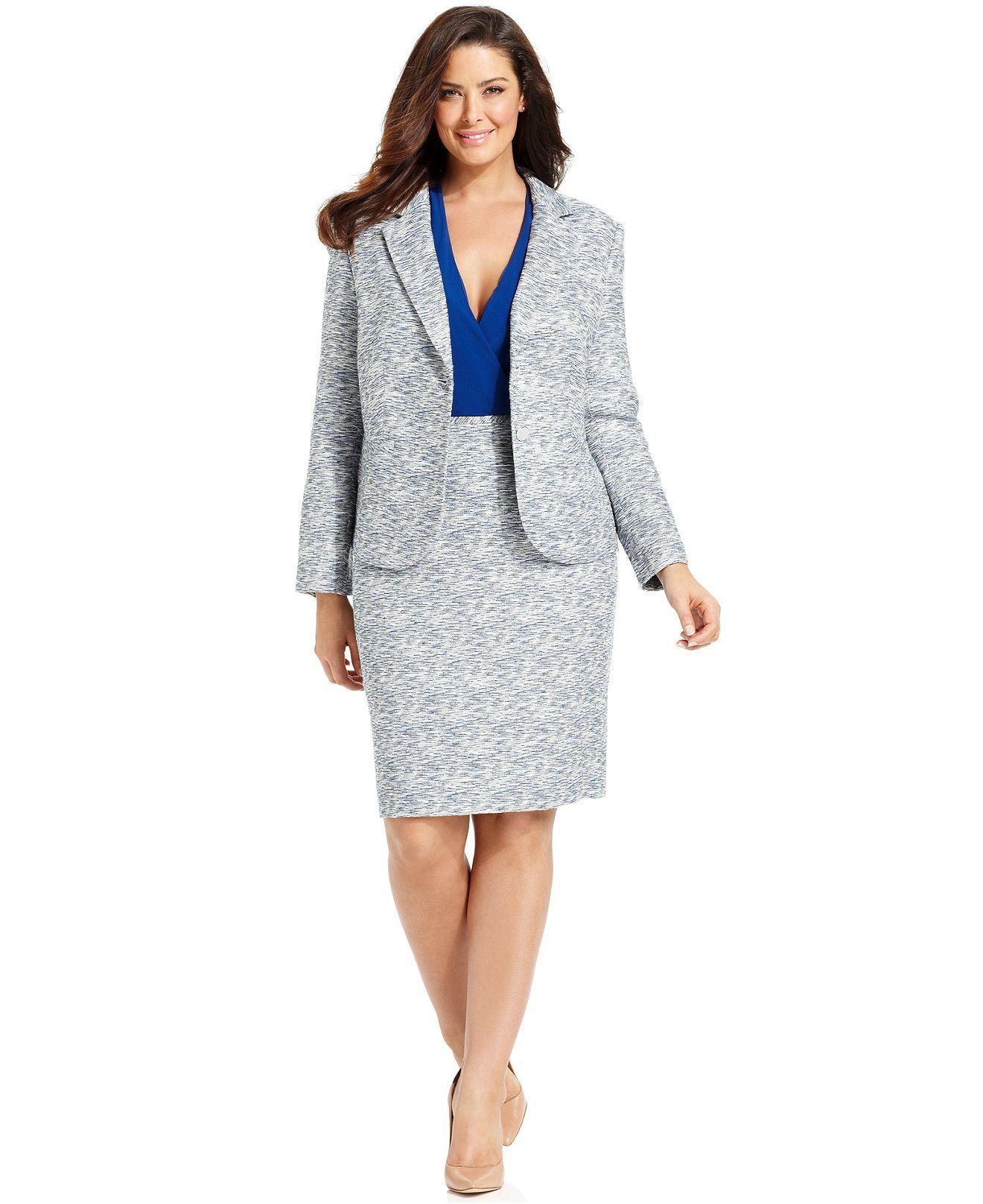 Calvin Klein Plus Size Suit Separates