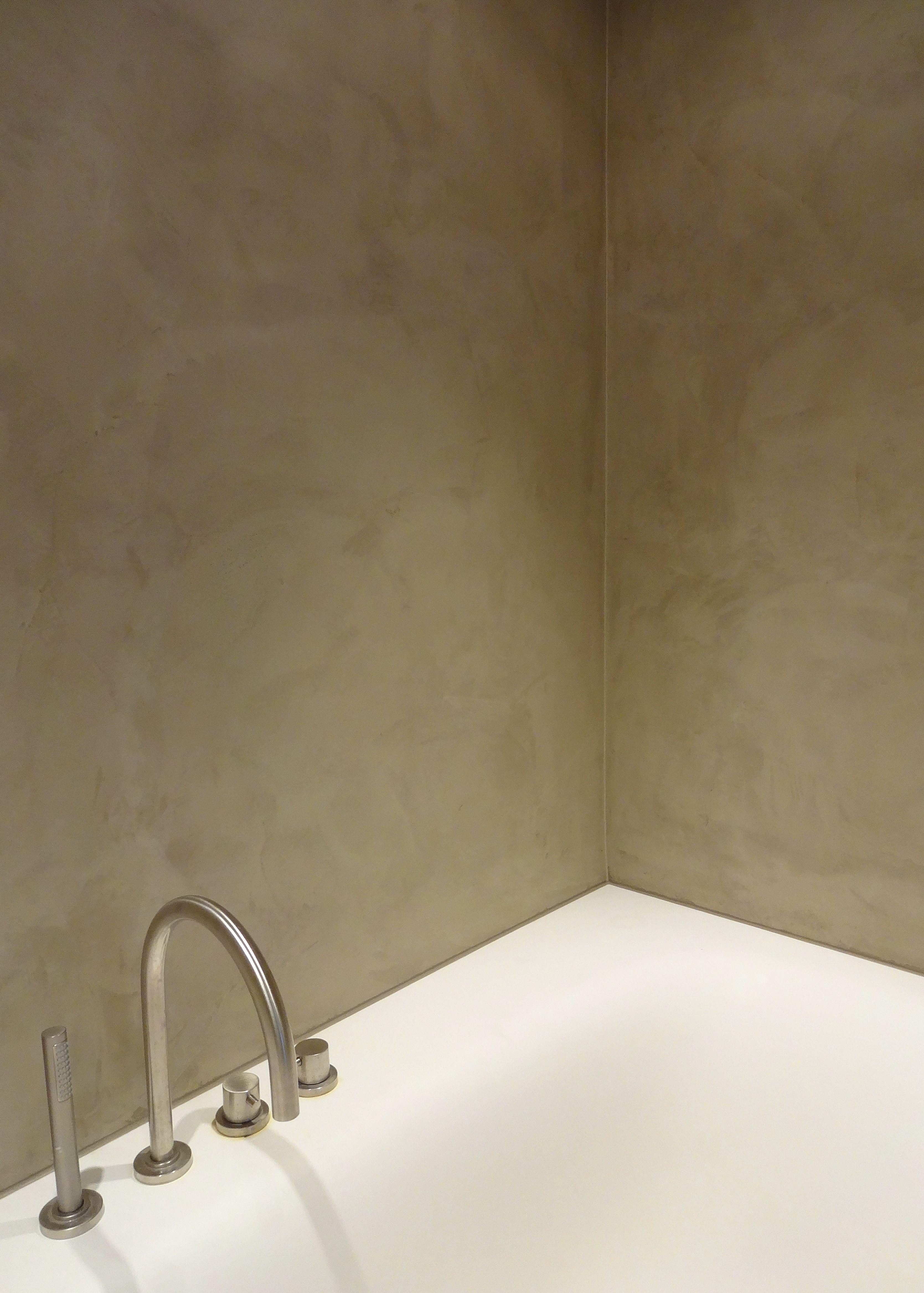 Luxury Bathroom. Waterproof Stucco. Stucco Wall. Belgian Tadelakt