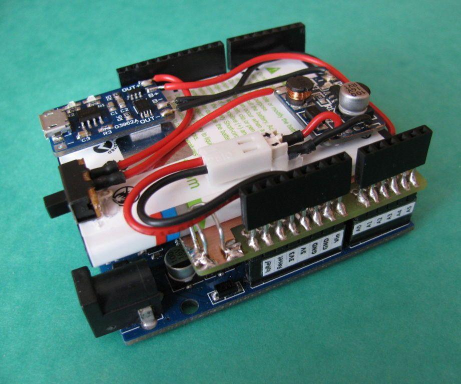 Arduino Battery Shield   Do it your self workshop   Arduino