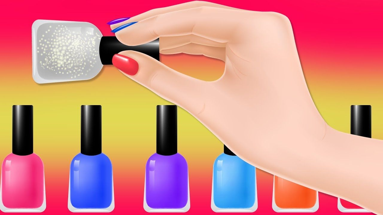 Learn Colors with Nail Polish for Children Kids Toddler collection ...