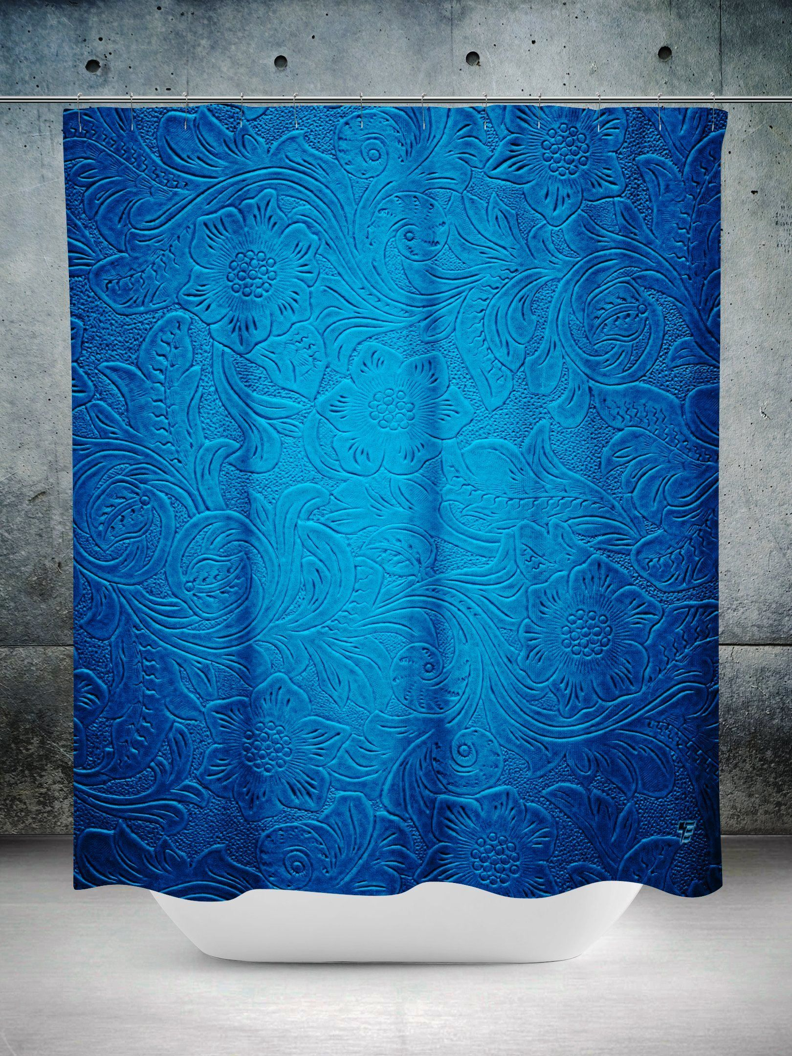 Blue Paisley Shower Curtain In 2019 Paisley Shower Curtain