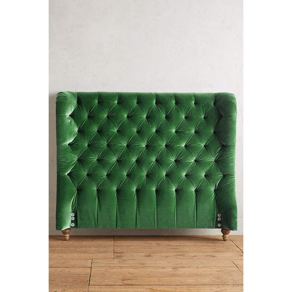 Anthropologie Velvet Tufted Wingback Headboard 1 898 Liked On Polyvore Featuring Home Furniture