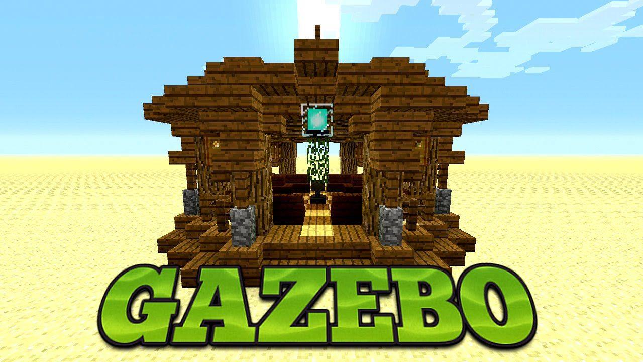 Minecraft: How To Build A Gazebo, Minecraft garden Design