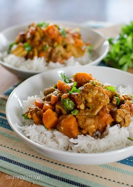 Chicken Sweet Potato And Lentil Curry Slimming Eats