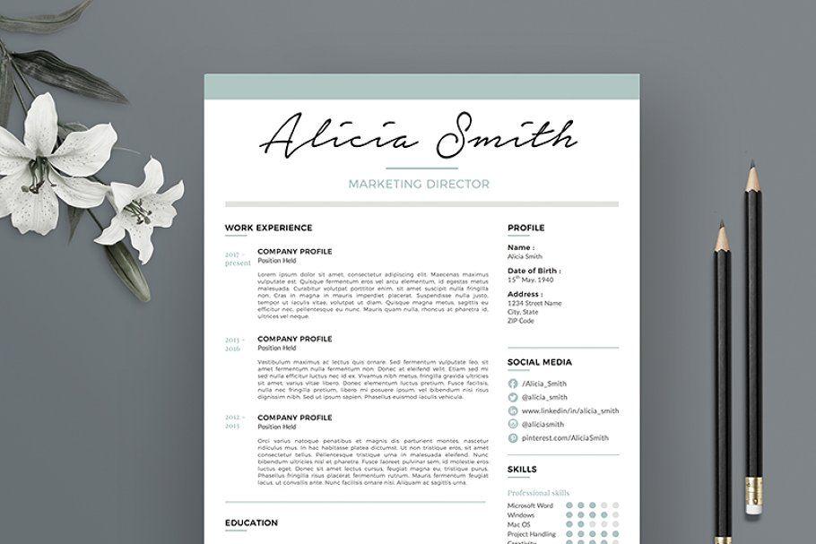 Professional Resume Template RE006 (с изображениями)