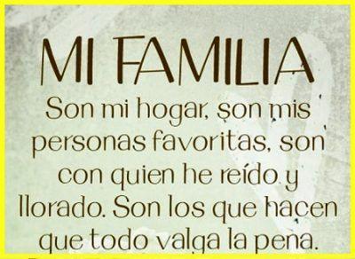 Palabras Bonitas Para Mi Familia Que Es Unida Aa Pinterest