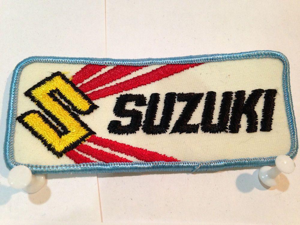 Vintage SUZUKI MOTORCYCLE PATCH