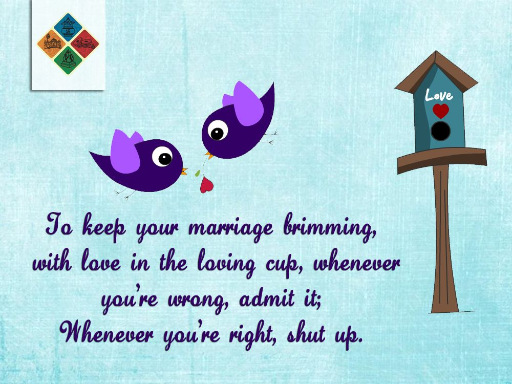How to Keep your #marriage brimming....??? - Read this  & to find your Mr.Right,  please do register at www.marwadishaadi.com