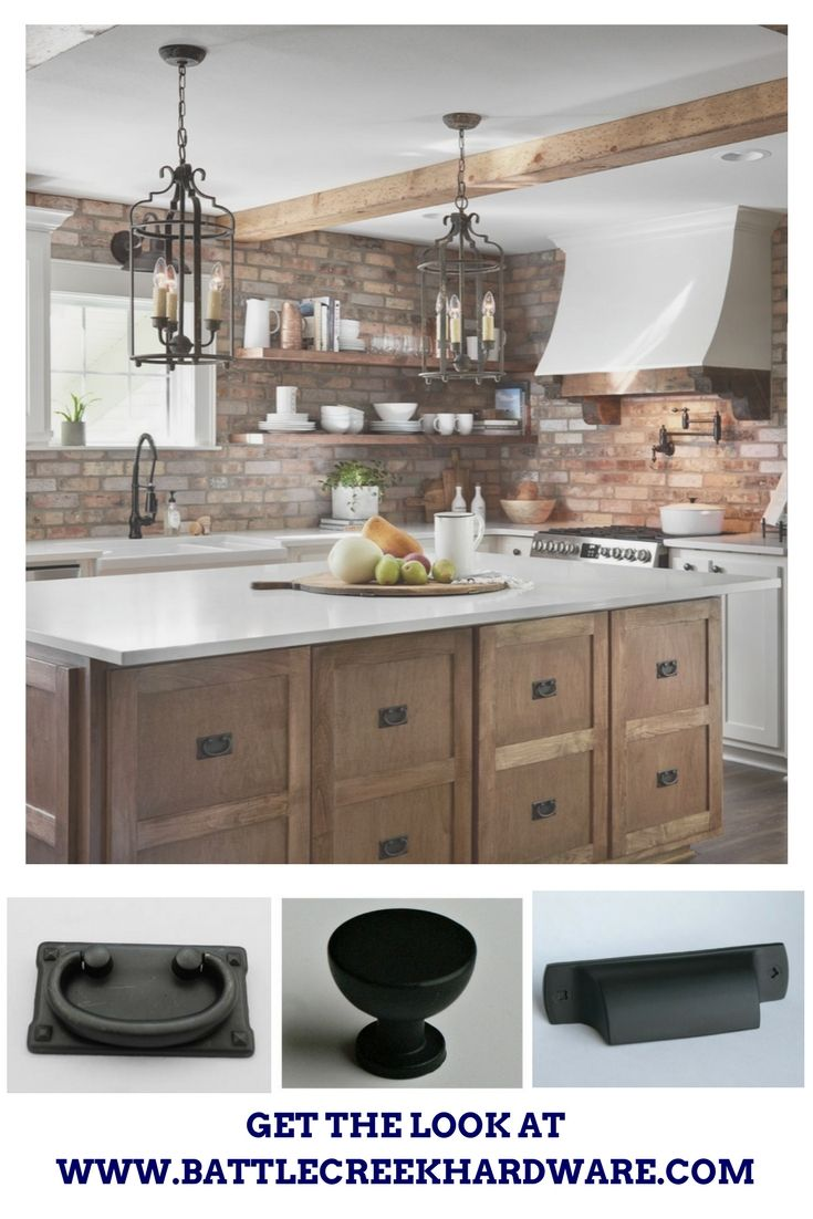 Kitchen design by Fixer Upper Magnolia Joanna Gaines Black cup pull ...