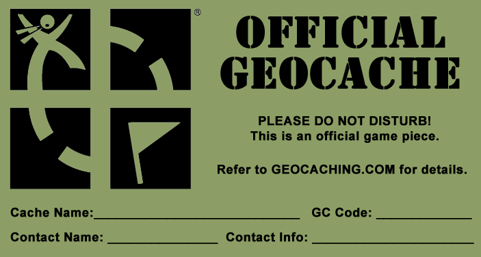graphic regarding Official Geocache Printable known as formal #geocache #printables Pleased (Geocaching