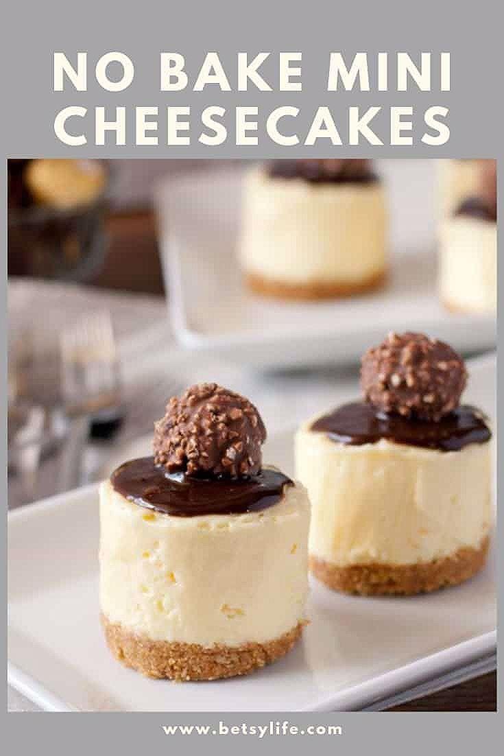Photo of No Bake Mini Cheesecakes