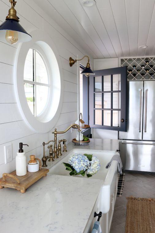 The-Inspired-Room-Small-Kitchen-Reveal-Navy-Blue-Dutch-Door-Farmhouse-Sink-Diamond-Wine-Rack-Over-Fr... - #diamond #dutch #farmhouse #inspired #kitchen #reveal #small - #localhousepainters