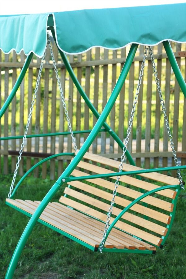 Replacing The Canopy On A Patio Swing