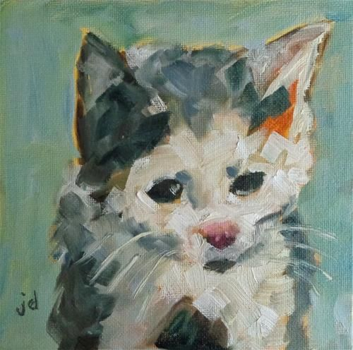 Kitten .... Daily Paintworks - Original Fine Art © Jean Delaney