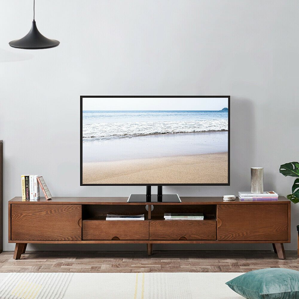 Details About Height Adjustable Free Standing Tv Stand Bracket W
