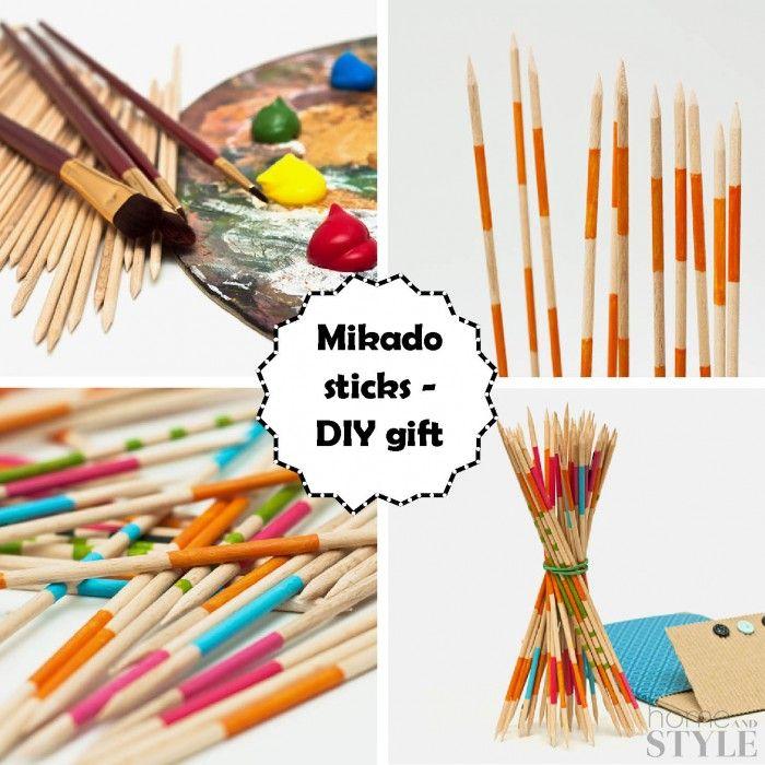 Mikado sticks - DIY gift for boys | For my boys | Pinterest