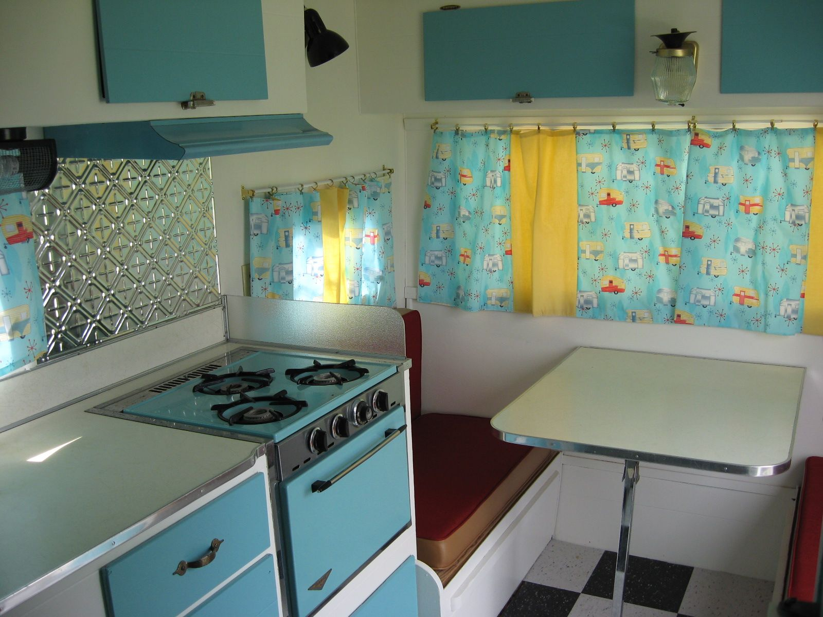 Camper Trailer Kitchen Designs Interior Photos Of Retro Vintage Camper Trailers Google Search