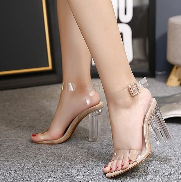 2c61c9e35db Kali Clear High Heel Sandals