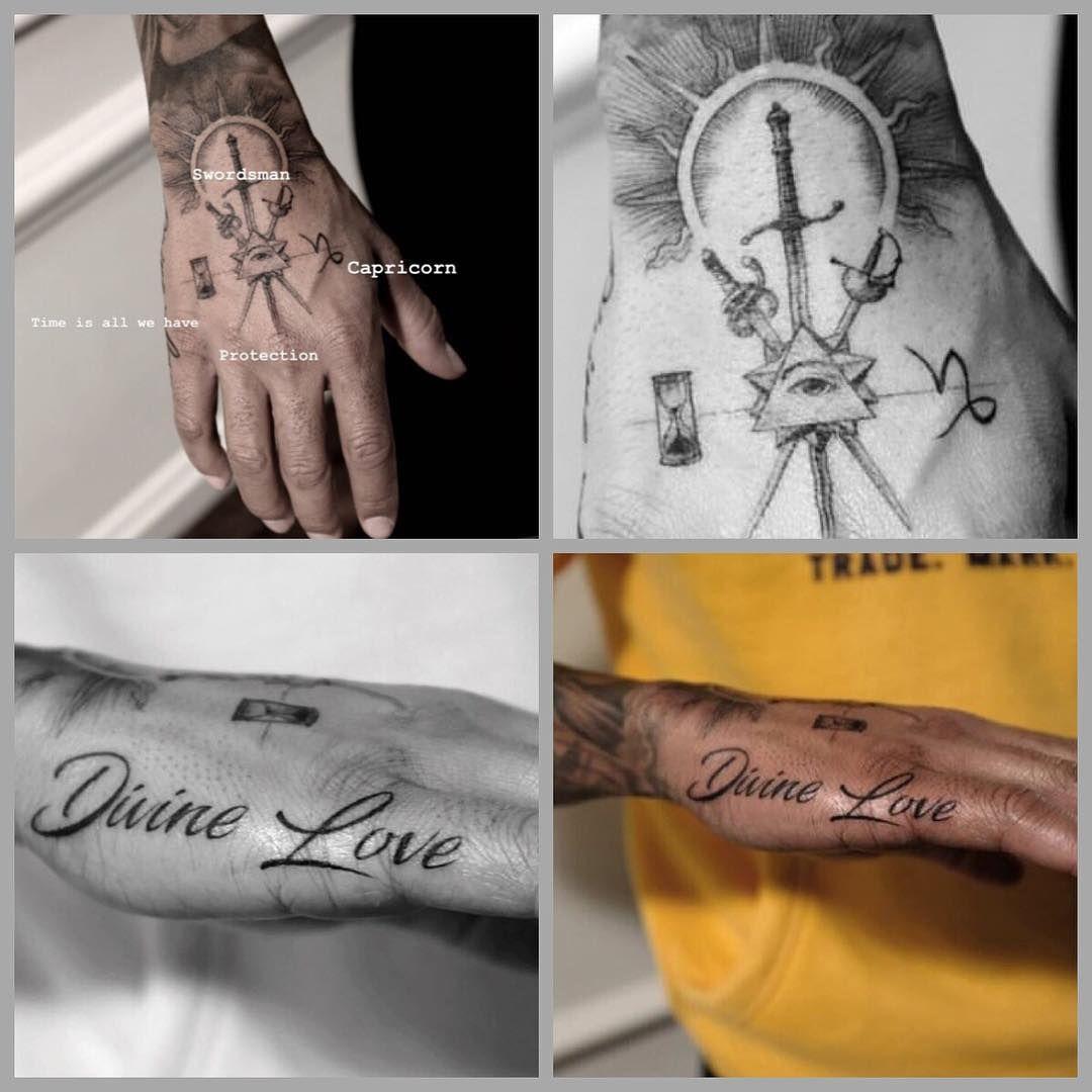 Lewis New Tattoos 12 February 2019 Lewishamilton Tattoo Itshisbody Ink Art Protection Time Capricorn Divinelove Tattoos New Tattoos Red Tattoos