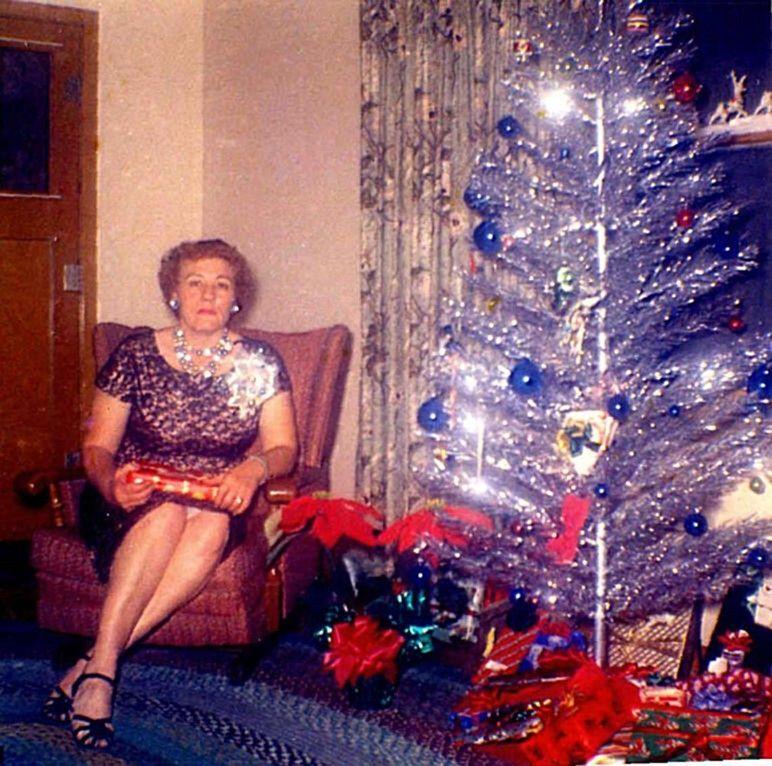 Woman Christmas Tree 1950s 1960s Aluminum Aluminium Aluminum Christmas Tree Vintage Christmas Tree Vintage Christmas
