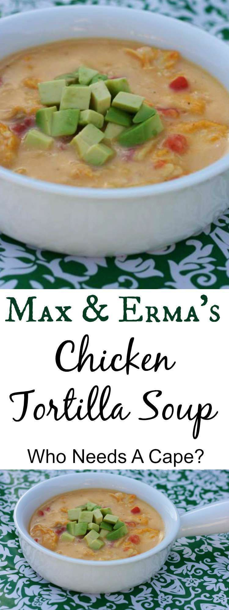 {copycat} Max & Erma's Chicken Tortilla Soup #chickentortillasoup