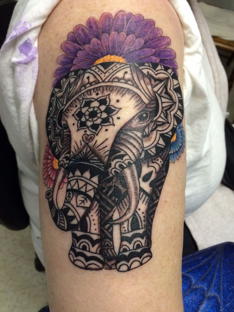 23+ Amazing Elephant trunk arm tattoo ideas