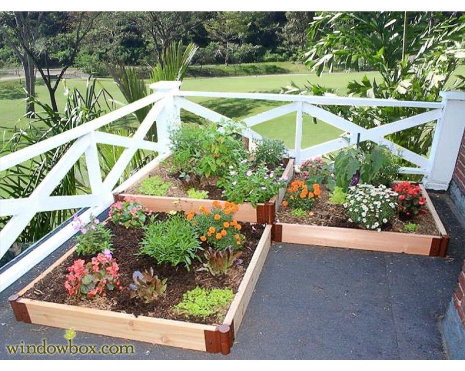 3 Tiered Corner Garden Boxes Corner Garden Garden Boxes