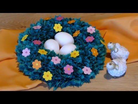 Basteln für Ostern: Osternest, Osterkörbchen, easter basket, Basteln mit Kindern - YouTube