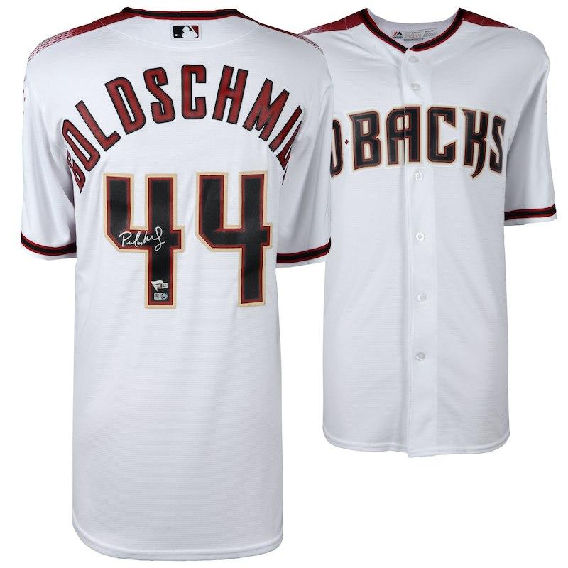 Paul Goldschmidt Arizona Diamondbacks Fanatics Authentic Autographed  Majestic White Replica Jersey bc3713a7f