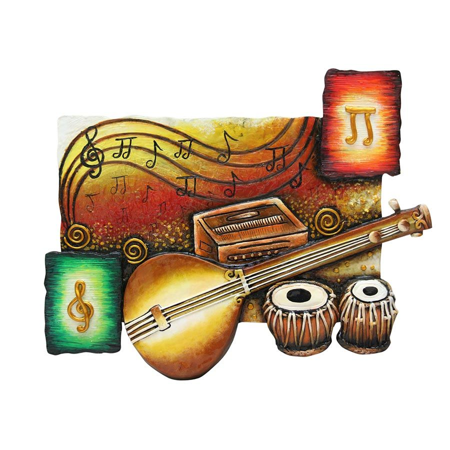 Musical Instruments Decorative Name Plate Musical Instruments Drawing Instruments Art Indian Musical Instruments