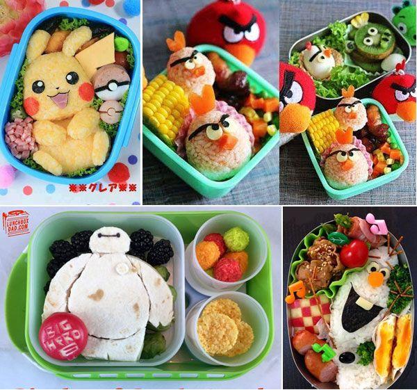 35 Kreasi Bento Bekal Sekolah Anak Di 2019 Bento Makanan