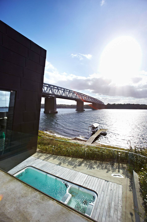 "Danish villa next to The Old Lillebaelt Bridge, Denmark. #architecture ""allgoodthings #danish spotted by @missdesignsays"