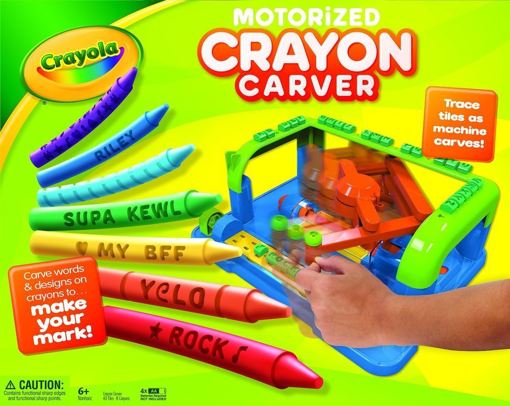 Crayola Crayon Carver 74-7097 Includes 32 Tracing Tiles 8 Crayola ...