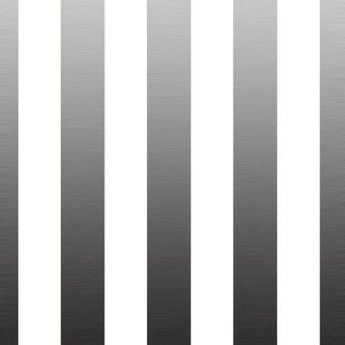 Carta da parati a righe larghe argento e bianche