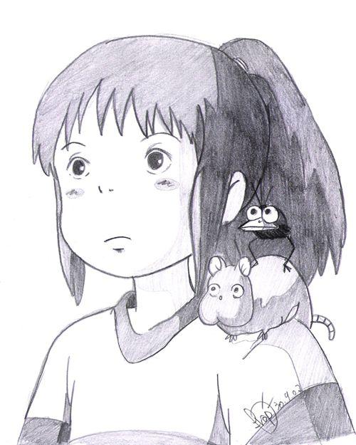 Аниме картинки из мультфильмов для срисовки