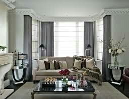 Grey And Cream Living Room Curtains