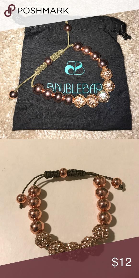 BAUBLEBAR Rose Gold Beaded Sparkle Bracelet Jewelry bracelets