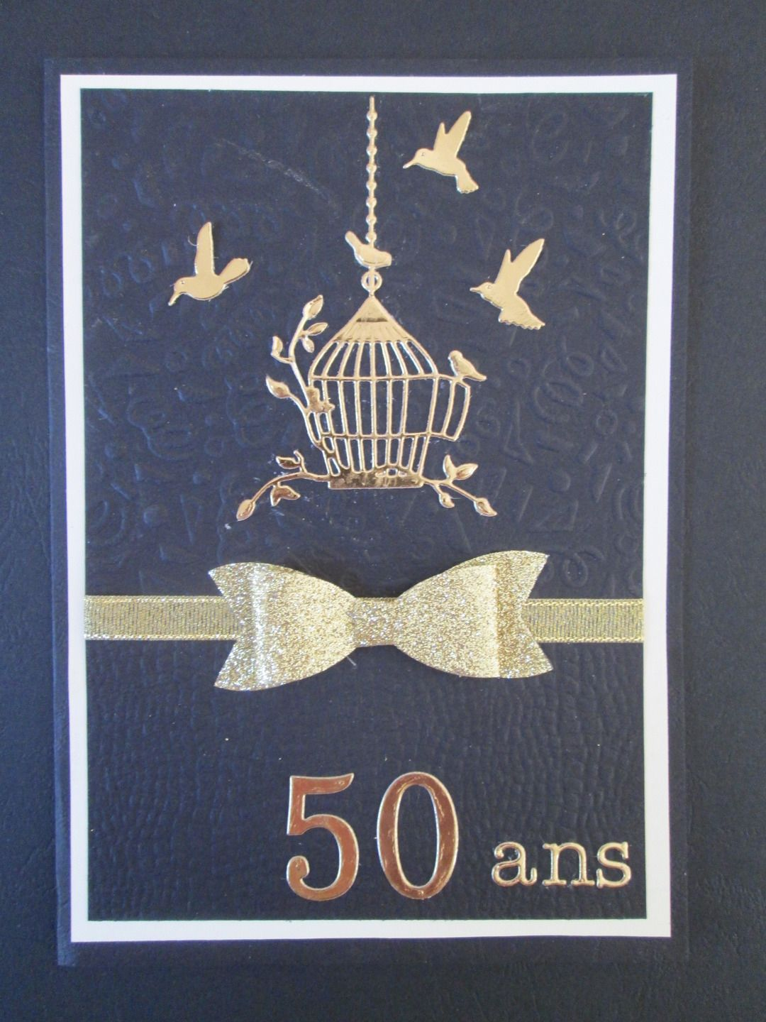 carte pour des 50 ans de mariage noces d 39 or carte. Black Bedroom Furniture Sets. Home Design Ideas