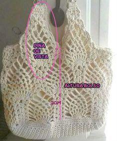 Patrones para Hacer Bolso con Punto Pias Tejido al Crochet