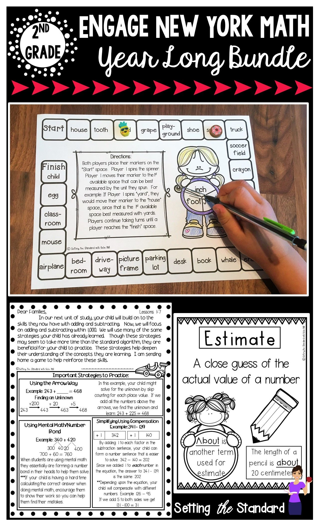2nd Grade Engage New York Parent Letters & Games & Vocabulary Poster ...
