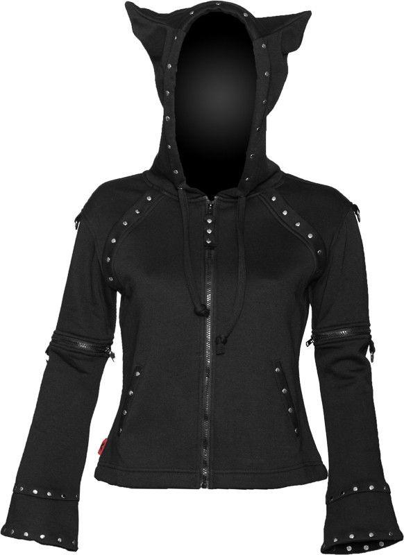 Girls zipper jacket with horned hood. Horns look like cat ears 39fb369dd